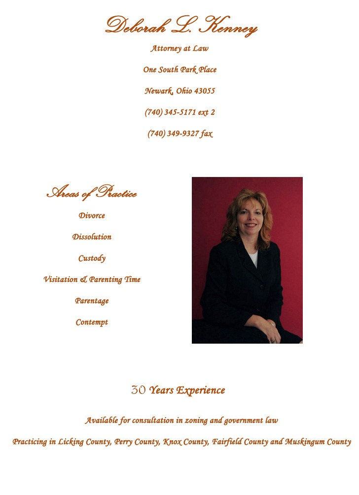 Deborah Kenney one of our family law attorneys in Newark Ohio